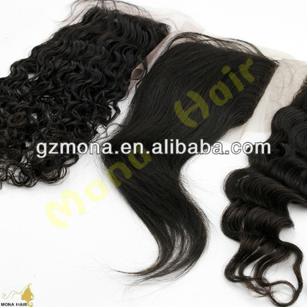 2013 new arrival various styles natural part hair closures