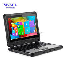 Fully Rugged Laptop 2.4G+5.8G Double Frequency WIFI Dual Camera With Fingerprint Scanner Access Control