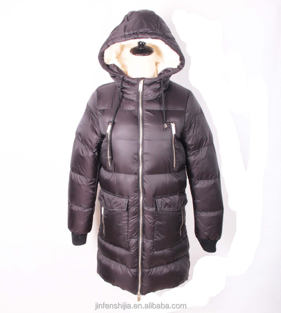 Latest design long coat turkey women down jacket winter