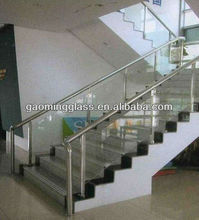The safety tempered handrail glass with high quality