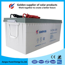 High performance deep cycle 12V battery gel 200Ah for off-grid solar system 8KW