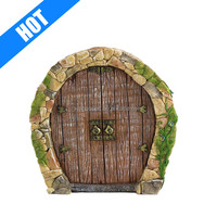 custom polyresin resin garden gnome door