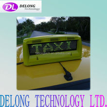 double sides 7X40pixel 12v high brightness outdoor wireless taxi led top light display