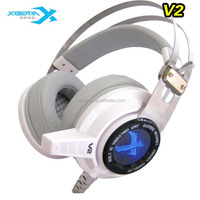 7.1 track light vibration function headphone amplifier headset with a microphone