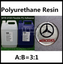 Yellow Resiatance PU Doming Resin Wholesale Price of Polyurethane Logo Resin