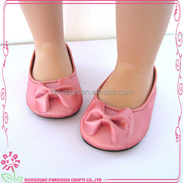 CE passed 18 inch eco-friendly material doll shoes patterns doll shoes
