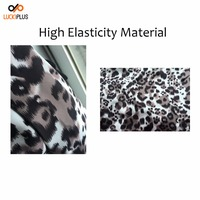 Luckiplus High Elasticity Fabric 350 gms All Zipper Luggage Cover Heat Transfer Printed Leopard Pattern Customized Luggage Cover