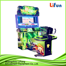 coin operated game machine/double gun players shooting game