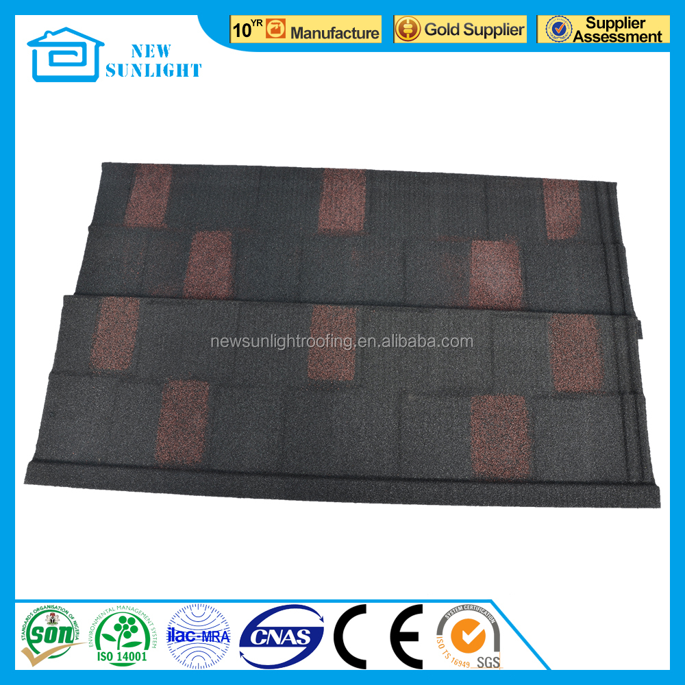 Metal Building Materials Tin Roof Mixed Colorful Stone Coated Steel Roofing Tiles