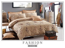 Chic Home 8 Piece Barcelona Printed Medallion Reversible Geometric Backing Golden Bed in a Bag Comforter Set with Sheet
