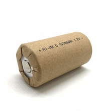 Ni-MH rechargeable battery D 1.2V 10000mAh paper wrap or PVC