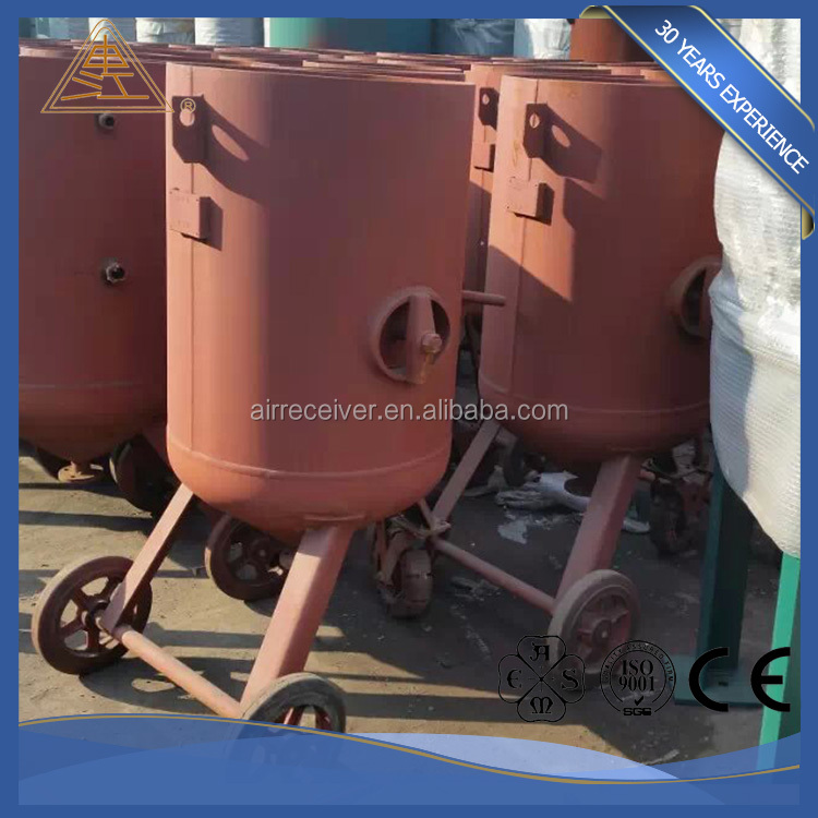 portable sandblasting pot with double gun and continuous for sale