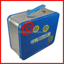 rectangle packing wholesale metal hinged lunch tin boxes and packaging