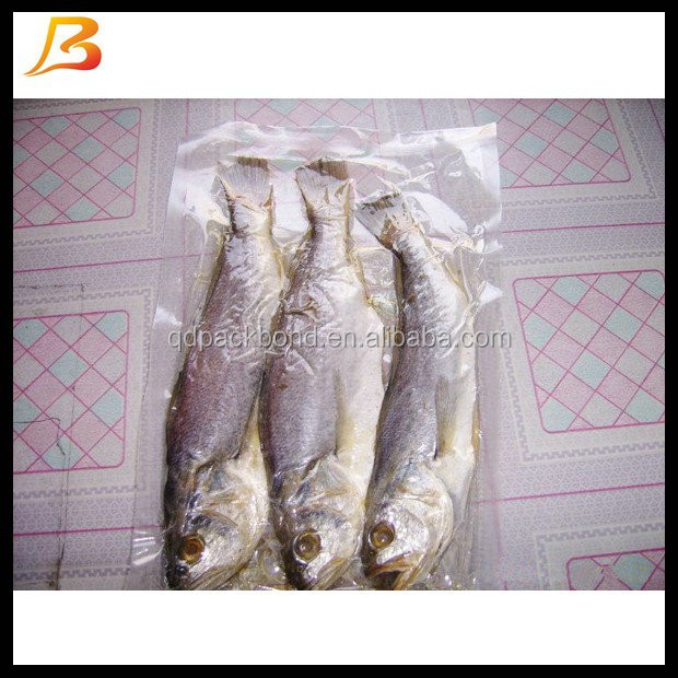 Transparent nylon lldpe vacuum bag for frozen fish packaging