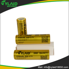 18650 Cylaid 60A 3100mAh 3.7v rechangeable li-lion battery