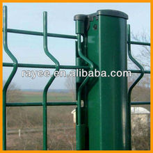 Galvanized and PVC coated YARD GUARD FENCE / Security Fence Panel/Welded curved fence