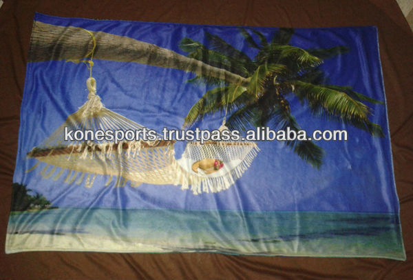 custom sublimated beach towels