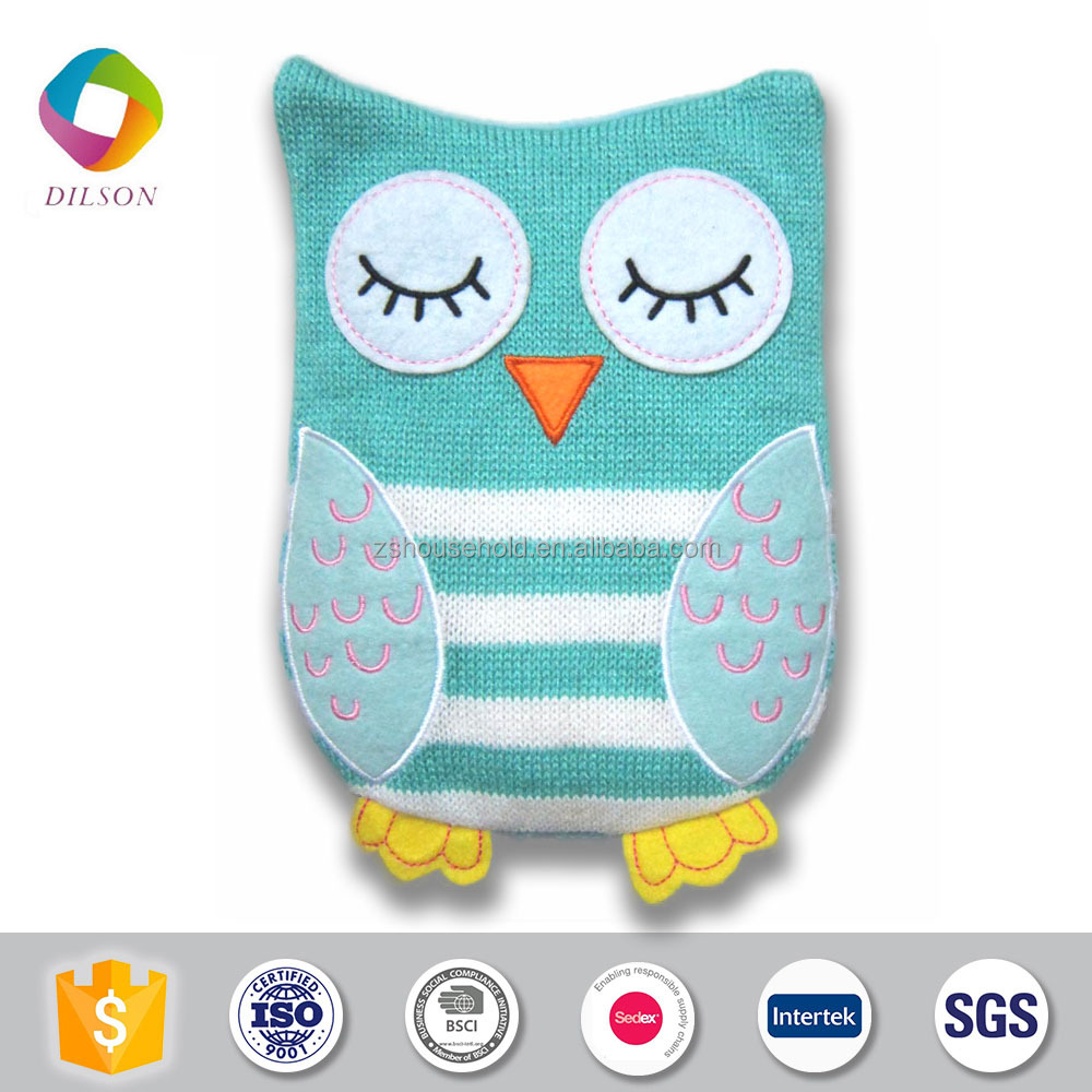 Baby favorite microwave knitted owl hand warm/hot pack/hot bag/heating bag
