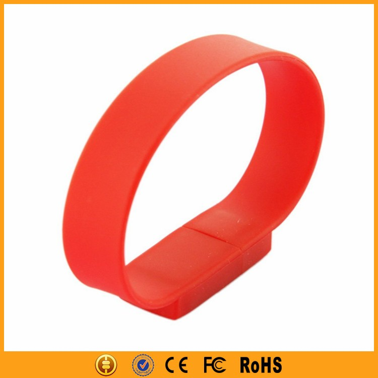 Interesting gadgets silicon 8gb usb flash drive bracelet