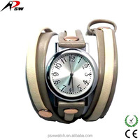 Women genuine leather watch chain bracelet long strap colorful watches for ladies