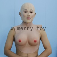 X-MERRY Fake latex breast for fancy party ,transsexuals dress up,transvestite dress up mask