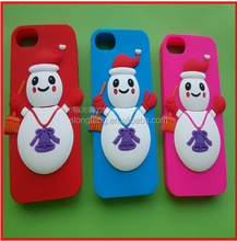 Christmas snowman 3D Cartoon thick mobile phone housing for Iphone 6 and 6P