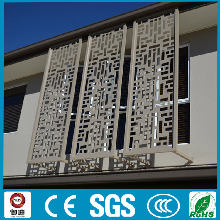 Modern design decoration aluminium laser cut metal screens for Aluminium decoration