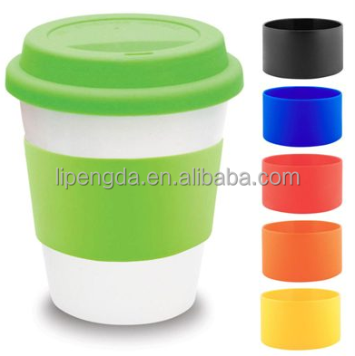100% food grade silicone rubber foam bottle sleeve silicone cup sleeve band for glass ceramic cup