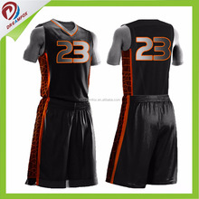 Basketball uniform best lastest custom sublimation wholesale blank reversible dry fit basketball jersey design 2017 cheap