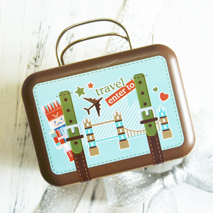mini cute handbag shape tin box with hing and handle