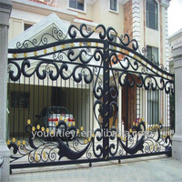 YOUDI factory are selling iron gate for houses, metal main gate design