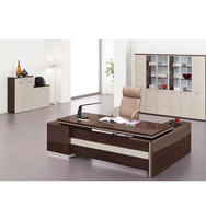 high tech red wood executive office desk