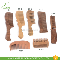 Detangling curly hair and beard pocket wood Comb