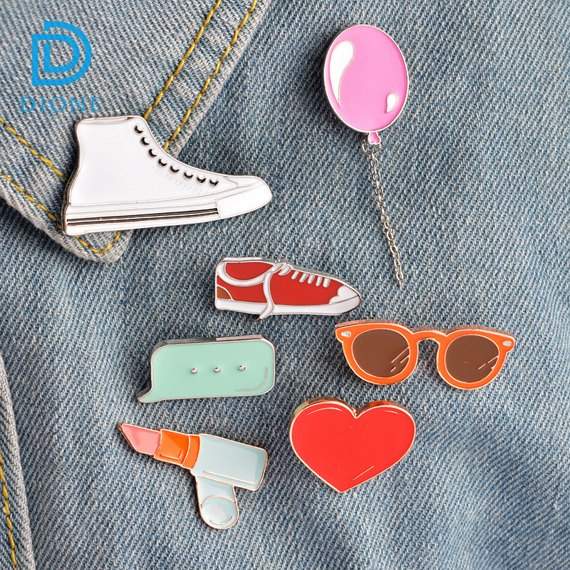 Kawaii various designs oil drip cute brooch enamel pin