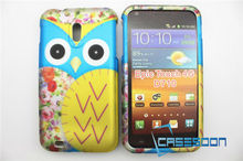 Decal water printing yellow owl Design Case For Samsung Galaxy S II Epic 4G SPH-D710 snap on design case