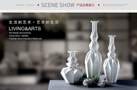 modern home decorative ornaments Resin cheap flower tall vase