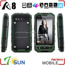 china supplier rugged phone land rover a8 android 4.2 ip68