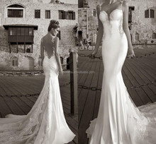 Inspired by 2015 Galia Lahav Summer Beach Wedding Dresses Lace Open Back Mermaid Bridal Gown FMG14