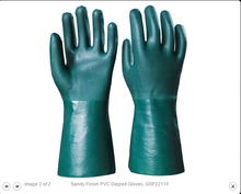 PVC gloves -Fine sandy finish and fully coated gauntlet GSP2211GF
