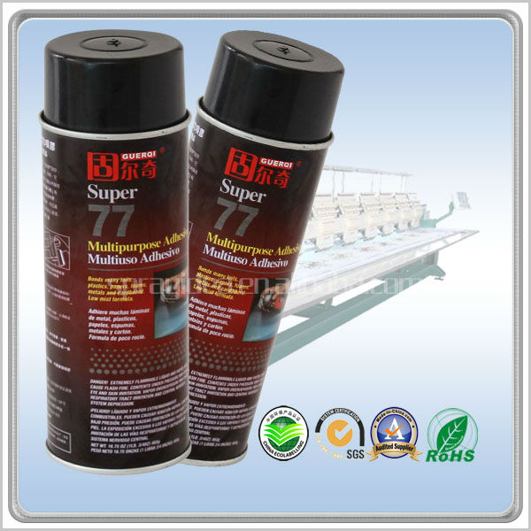 DM-77 non-toxic silicone spray adhesive from adhesive manufacturer