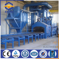 heavy steel structure shot blasting machinery