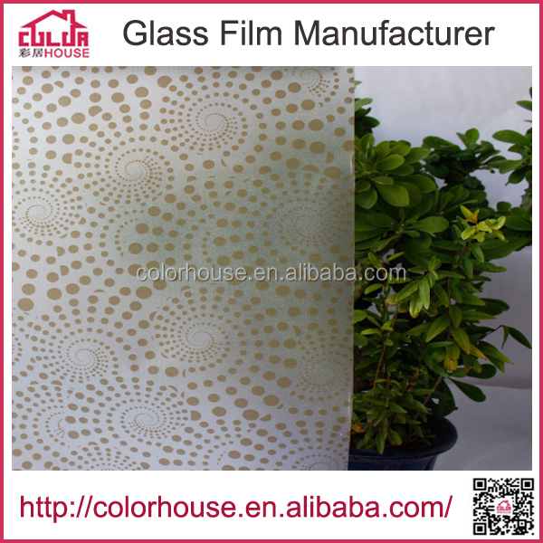 adhesive pvc sticker decorative stained window film for window/door