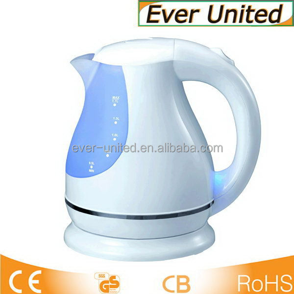 2015 hot selling red light plastic electric kettle