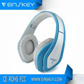 Foldable Stereo wired headphone with microphone for phone, Over ear headset with Hifi sound quality