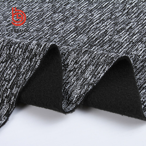 wholesale clothing jacquard knitted double bonded fleece fabric for women