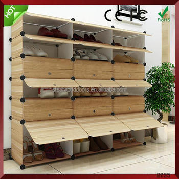 China alibaba household cleaning product large space non-woven shoe rack double line simple modern shoe cabinet