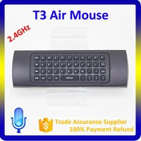 High Quality Portable Remote Control Compatible With Android/Mac OS/Linux T3 Airmouse For Android Tv Box