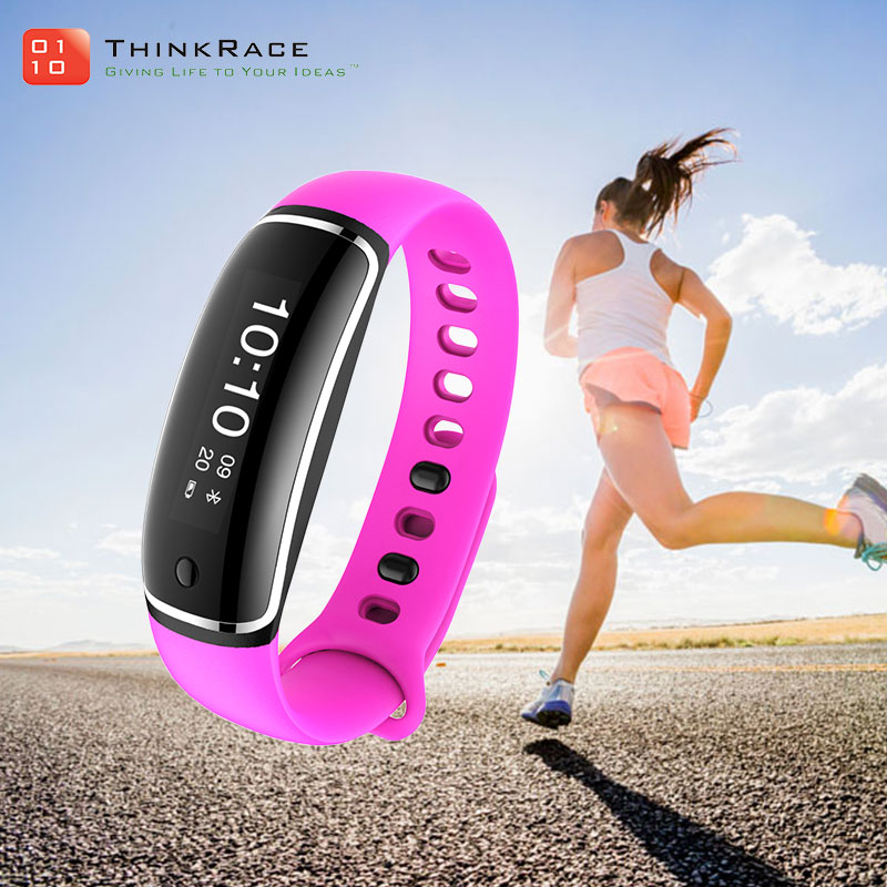 Moving target setting sleep monitoring smart bluetooth 4.0 heart rate bracelet