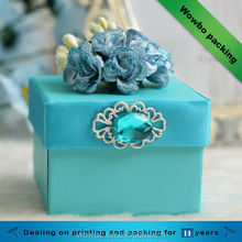 Birthday/Christmas celebrate luxury paper gift box with a very big ribbon flower
