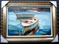 Handmade Frameless Modern Art Oil Painting Ship And Sea Landscapes On Canvas